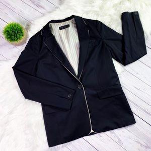 Rag & Bone Black Blazer Jacket w/White Trim